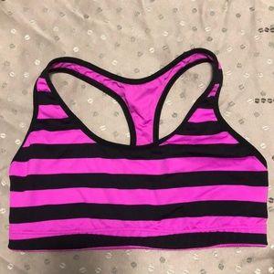 PINK Yoga Victoria's Secret Lilac/Black Racer Bra